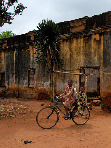 Riding a bike (by Hugo!) Adjarra, Benin