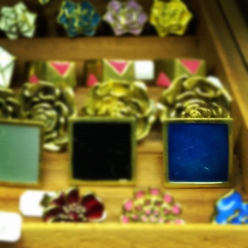 Square & Blue…I like u! #moshka #blingbling (Taken with Instagram at Moksha Clothing)