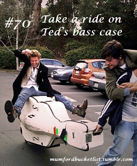 Submitted by lizdwane Take a ride on Ted's bass case