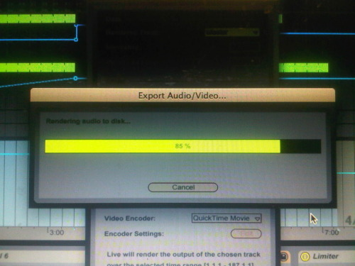 Almost done exporting the new track!