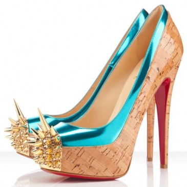 Christian Louboutin  Asteroid 160 Spike Toe Cork Pumps  $215.00