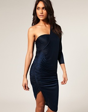 Runched Asymmetric Dress by Asos $78.00