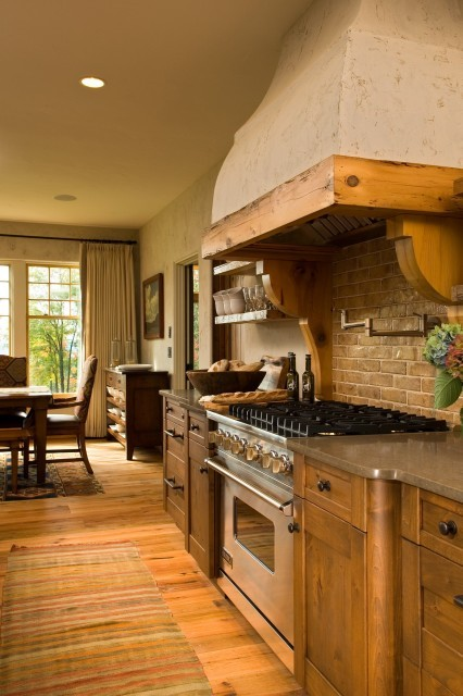 Rustic kitchen with a European flair (via Witt Construction)