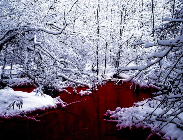 thescpfoundation:  SCP-354: The Red Pool SCP-354 is a pool of red liquid located in northern Canada. The liquid is similar in consistency to human blood but is non-biological in nature. The density of the liquid increases proportionally with depth. Periodically, entities emerge from the pool and attempt to escape from the enclosure. Thusfar, nearly all creatures emerging from SCP-354 have been extremely hostile and highly dangerous. A log of entities which have emerged from SCP-354 can be found on the main article. One attempt at exploring the pool has been made. A log of the exploration can be found here.