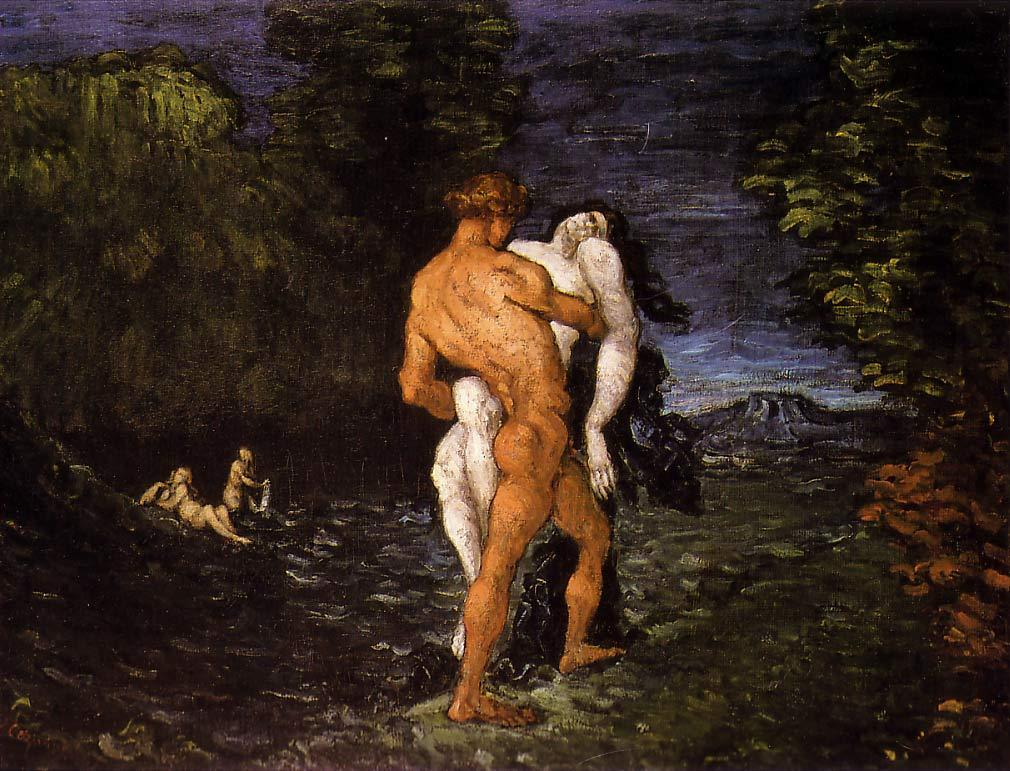 "Abduction, Paul Cezanne.Oil on canvas, 89.5 x 115.5 cm (35 1/4 x 45 1/2""); Fitzwilliam Museum, Cambridge, UK"