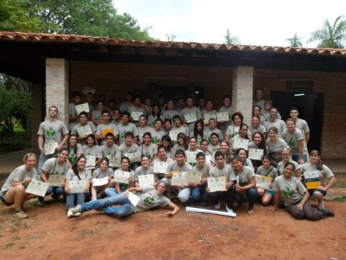 macolon2:  Paraguay Verde The 1st National Environmental Youth Group gathering. A three day, two night workshop to form and strengthen environmental youth groups. 22 PCVs and 45 Paraguayan youth from all over the country came together to create a network of youth protaganism in effort to protect the environment. Rock on!