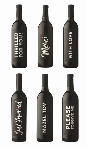 personalize wine bottle