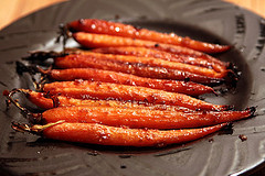 Miso Glazed Carrots from the Earth Balance website.