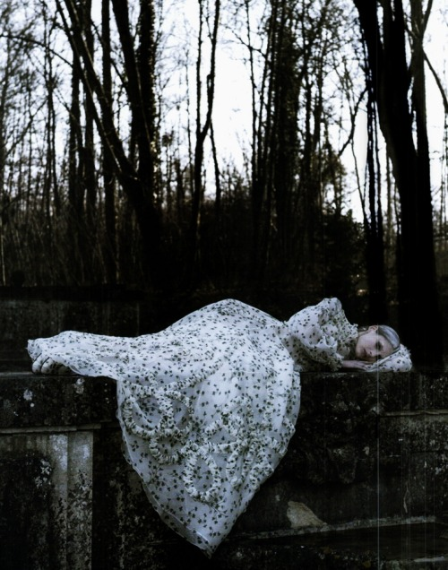 moldavia:  Marie Piovesan in Vogue Italia March 2012 by Deborah Turbeville