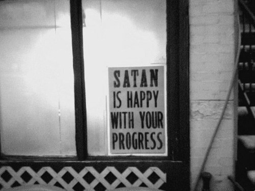 Endorsed by Satan.
