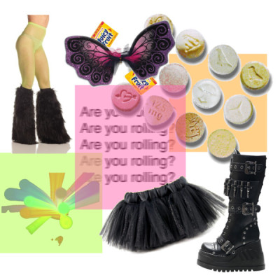 Rave Candy by filthygood featuring knee boots