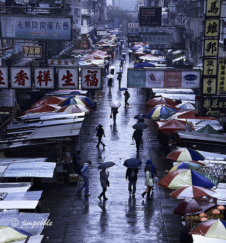 Flea Market in the Rain (by jimpebble)