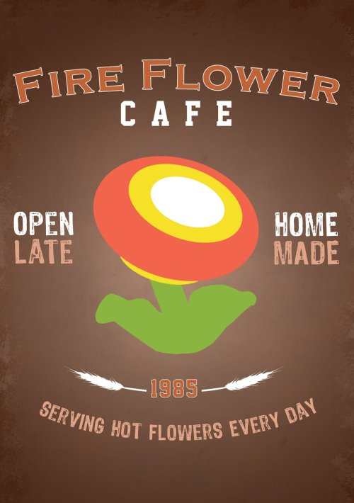 geekpride:  Fire Flower Cafe by thehookshot