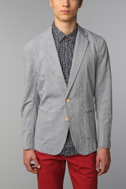 General Assembly Chambray Blazer - Urban Outfitters, $140.00