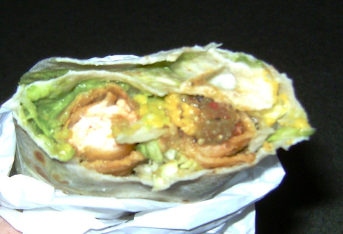 Holy shit, I had the most amazing burrito last night; I went to Diego's Mexican Food (Oceanside, CA) and had them put 2 taquitos into a burrito (TAQUITO BURRITO). This is totally my new favorite thing.