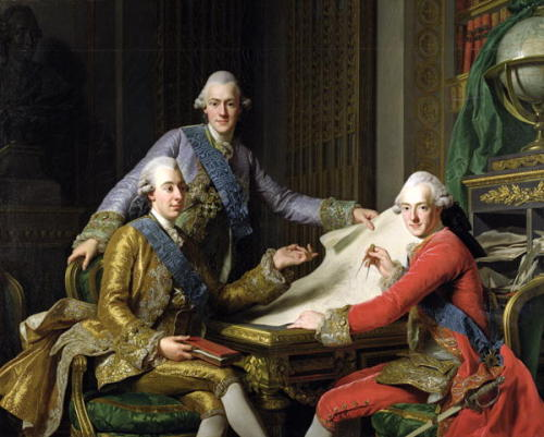 mesbeauxarts:  Alexander Roslin.King Gustav III of Sweden and his Brothers. 1771. Oil on canvas. State Hermitage Museum. St. Petersburg, Russia.