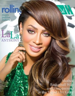 Actual Basketball Wife @Lala Anthony is the cover girl for this month's Rolling Outmagazine.