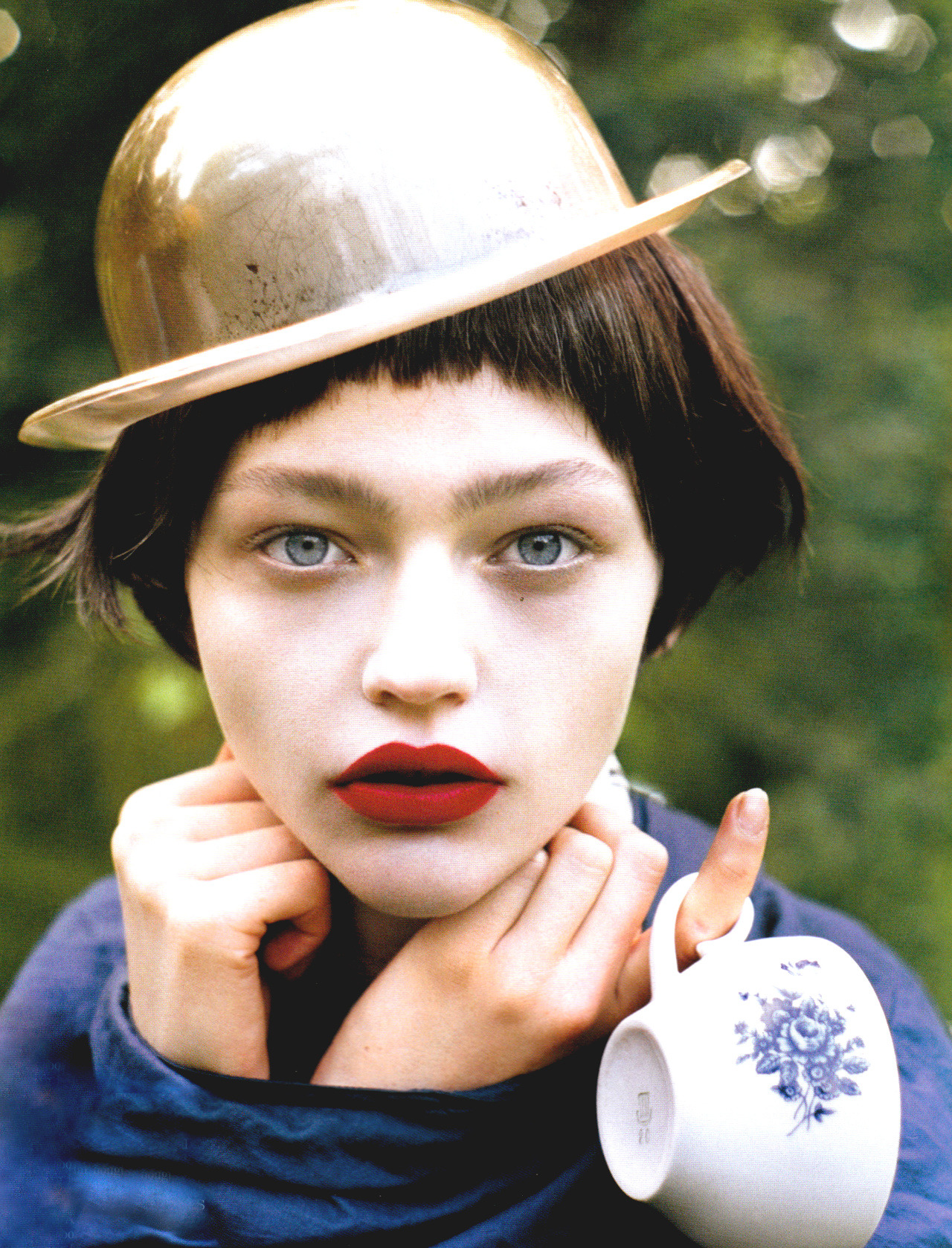 Sasha Pivovarova by Tim Walker for Vogue UK January 2007