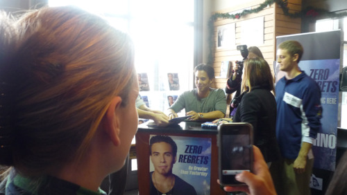 Forgot about this picture sdgksdg Lady took it when we went to his book signing back in 2010. I love how I'm just staring, probably with my face like