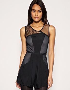 Lace playsuit by Asos $57.00