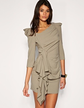 Twist and drape dress by Asos $130.00