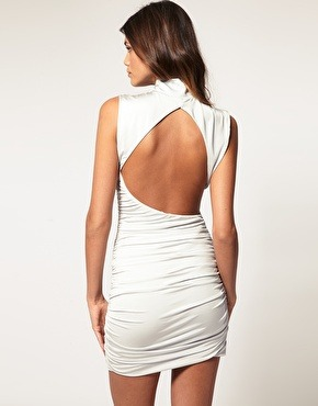 Bodycon dress with cutout back by Asos