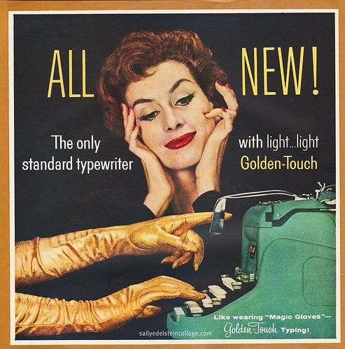 A Typists Golden Opportunity (by sallyedelstein) Underwood Golden Touch 1957