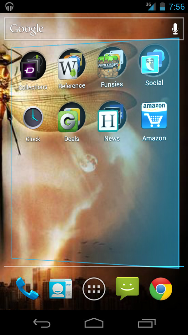 Android ICS - The screen skews when you try to swipe further in that direction. /via Tony