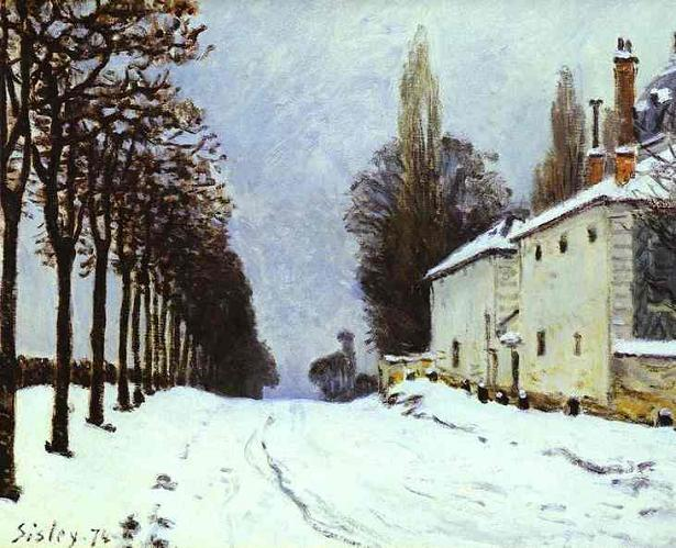 Alfred Sisley ~Snow on the Road~ 1874