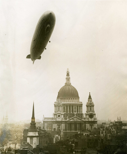 closetotheexitdoor:  Zeppelin over St. Paul's by The National Archives UK on Flickr.