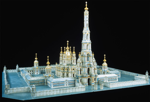 balticavenue:  Francesco Bartolomeo Rastrelli's model for the unfinished Smolney Convent in St Petersburg. The massive entrance gate was never built.