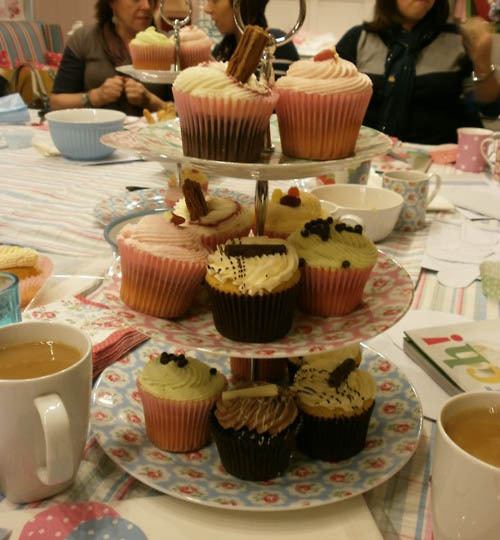 The Cath Kidston event I worked at in February was a success, it was a great evening of making, eating cake and shopping; a lovely environment to work in.  This is a photo of the amazing cakes we had at the event, they were lovely!