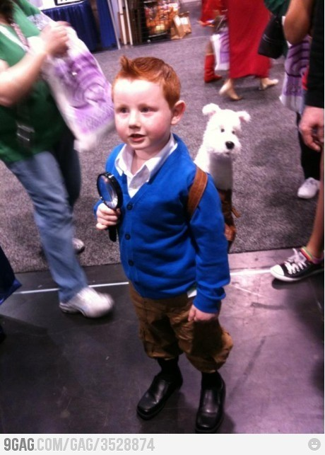 bourbonandpearls:  livingby:  mini-tintin  CUTEST THING EVER!