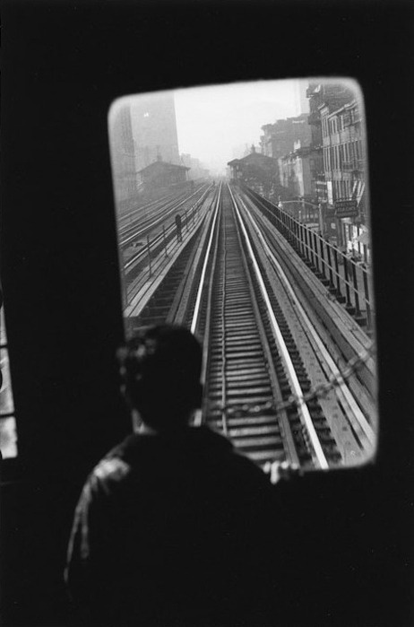 Elliott Erwitt New York City, Third Avenue El, 1955