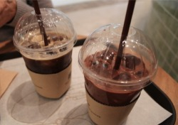 Iced coffee and Iced hot chocolate.