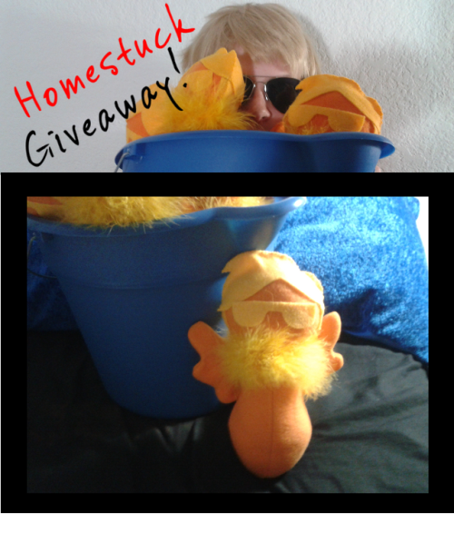 cindyjeans:  I'm doing a Giveaway of one of my adorably awesome Davechick Plushies! Rules: 1) Reblog as many times as you want! There will be ONE randomly selected winner. 2) Likes don't count and follows aren't necassary but greatly appreciated! 3) Giveaway will be closing on 4/13/12 and posted 4/14/12! Keep your ask box open! 4) If I don't get a response within three days of sending the ask (I will try 3 times) a new winner will be selected! For more pictures of the Davechicks: You can see them HERE! Thanks everyone! I wish you all the best of luck!!
