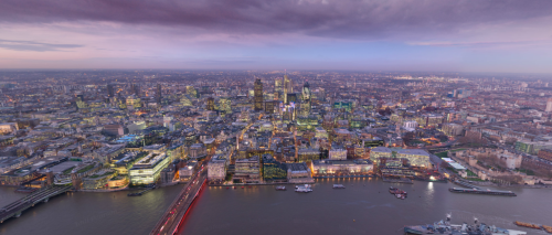 360° Photo from London's Shard (The tallest building in the EU)
