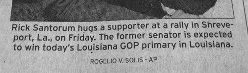 nandoops:  Yes, we get it, the primary is in Louisiana.