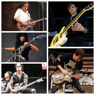 Herman Li - DragonForce ~~ Michael Angelo Batio - Nitro ~~ Synyster Gates - Avenged Sevenfold ~~ David Kennedy - Angels and Airwaves ~~ Thomas Matthew DeLonge - Angels and Airwaves/Blink 182