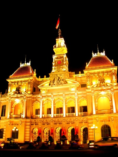 Saigon City Hall in the night - Ho Chi Minh City, Vietnam