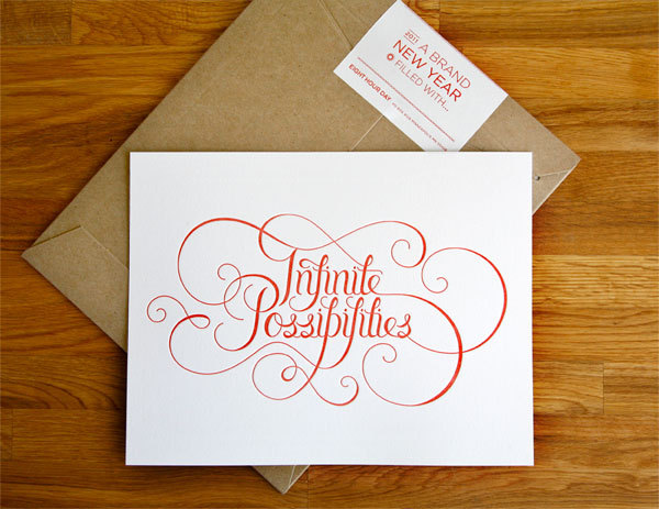 infinite possibilities, beautiful typography