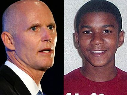 Trayvon Case Not Exactly Top Priority for Florida's GOP GovernorFrom our Florida bureau:  Last Monday, Rick Scott—Florida's beleaguered freshman tea party governor—made a powerful executive decision: He signed legislation to require drug tests of state employees. On Friday, he acted decisively and signed a controversial pro-school-prayer bill into law. His top cop, Republican Attorney General Pam Bondi, spent the week on one of her top priorities: promoting the state's Supreme Court case against President Obama's health care reforms. The state's Republican Party this week also began airing a new pro-Scott ad, two years ahead of his next election, and Scott's also taken to bragging about his recent legislative accomplishments.Somewhere in there, the governor addressed Trayvon Martin's killing…  Read the rest of the story on the Republican's complicated relationship with minorities in Florida.