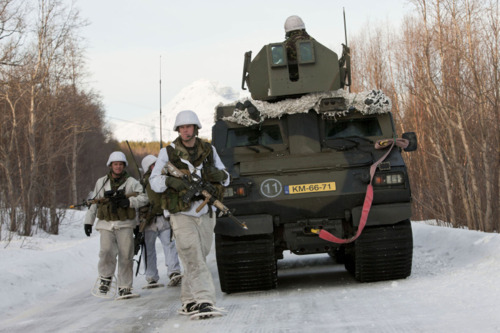 Dutch Marines of the 2nd Battalion during Exercise Cold Response 2012