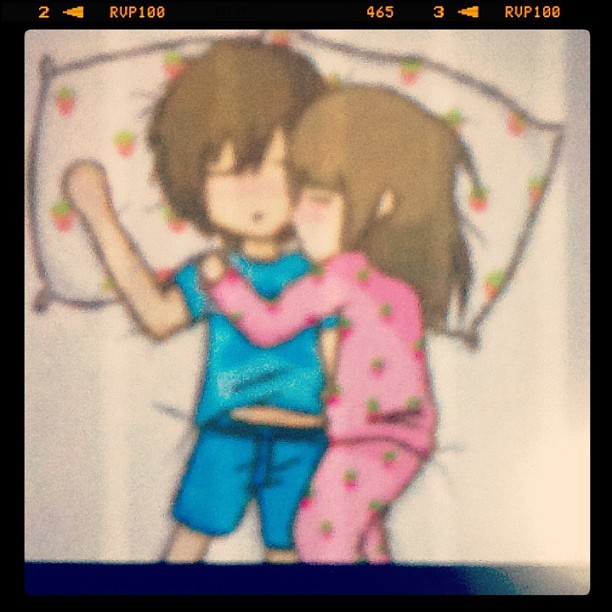 andiajingga:  #sweet #love #sleep #couple #sweetcouple (Taken with instagram)