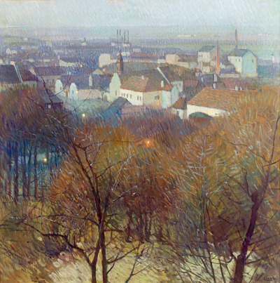 artandopinion:  View of Nussdorf and Heiligenstadt in Twilight circa 1905 Carl Moll
