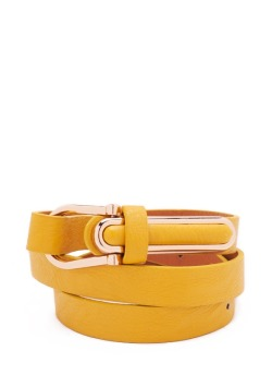 Leatherette Metal Trim Belt - GoJane, $6.90