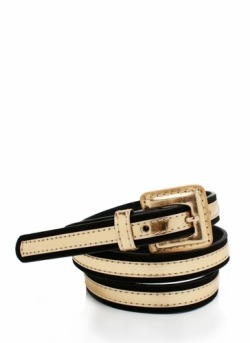 Metallic Contrast Belt - GoJane, $8.10