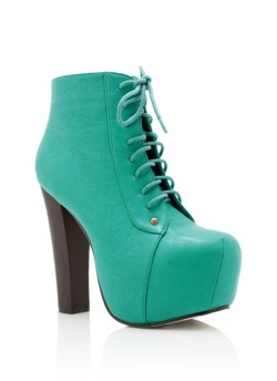 Lace Up Leatherette Platform - GoJane, $48.00