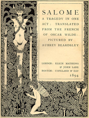 la-beaute-convulsive:  a cover of the tragedy by Oscar Wilde, 'Salome'.