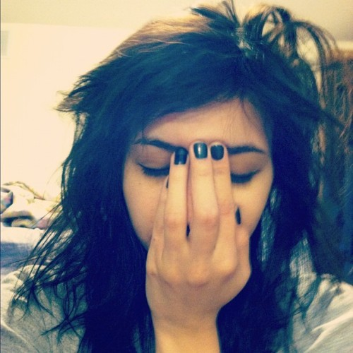 ugh, morning face. (Taken with instagram)